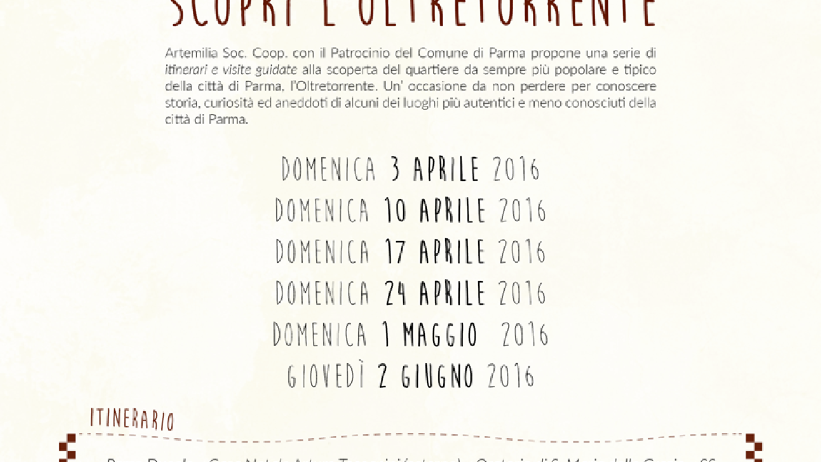 "Discover the ""Oltretorrente"""